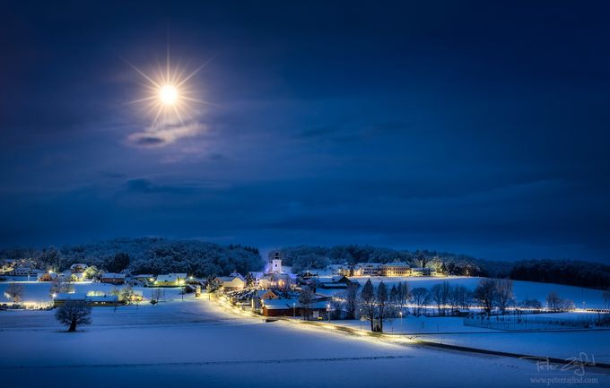 Winter under moonshine by saintek - Towns In The Winter Photo Contest