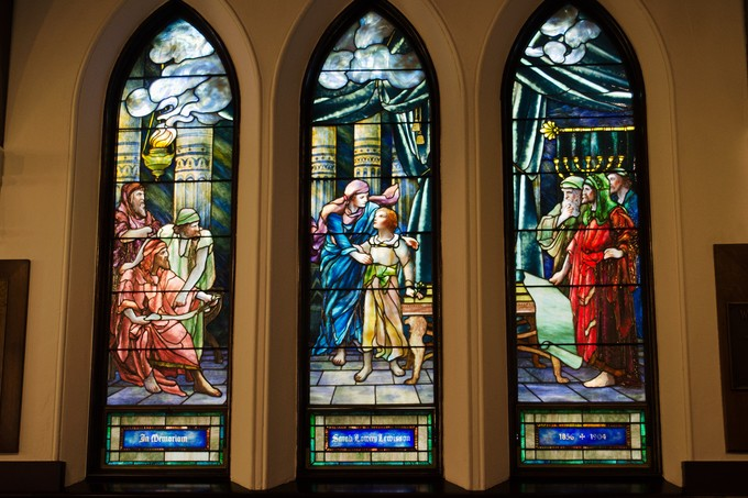 Taken with Nikon 5100 using AF-S Nikkor 18-55mm 1:3.5-5.6 G lens. This was in St. Johns Episcopal Church in Franklin, Pennsylvania.