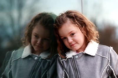 My daughter and her twin