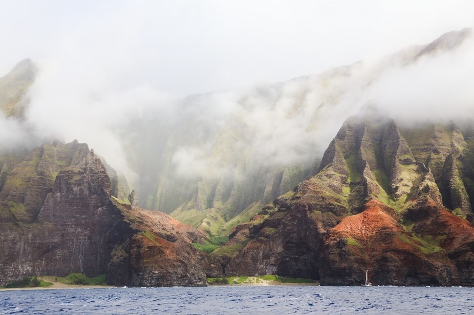 This image happened right after a storm lifted and revealed the beautiful Kauai coastline.