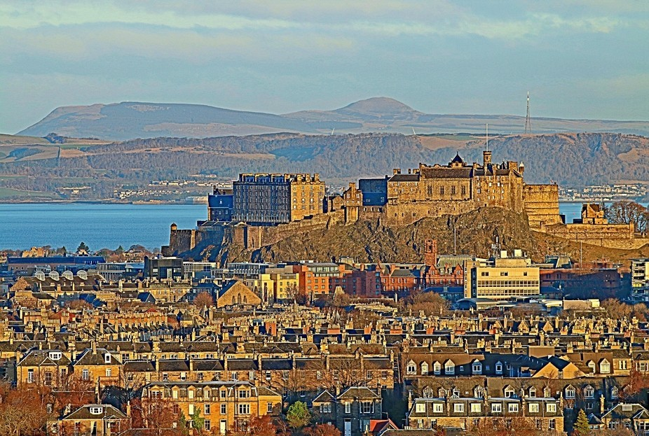 This is Edinburgh Castle taken from quite a long way away and was shot on New Year's Day...