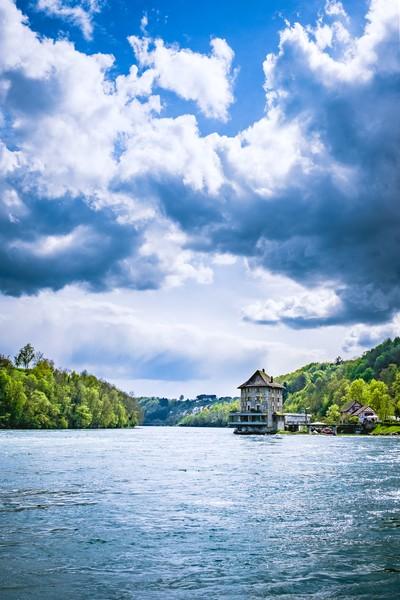 Mansion Woerth at the Rhine Falls