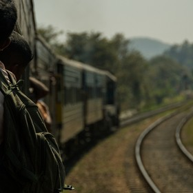 Backpacking through Sri Lanka can get pretty hot, especially when trapped on a train for 8 hours. Leaning out the doors is the best way to cool y...