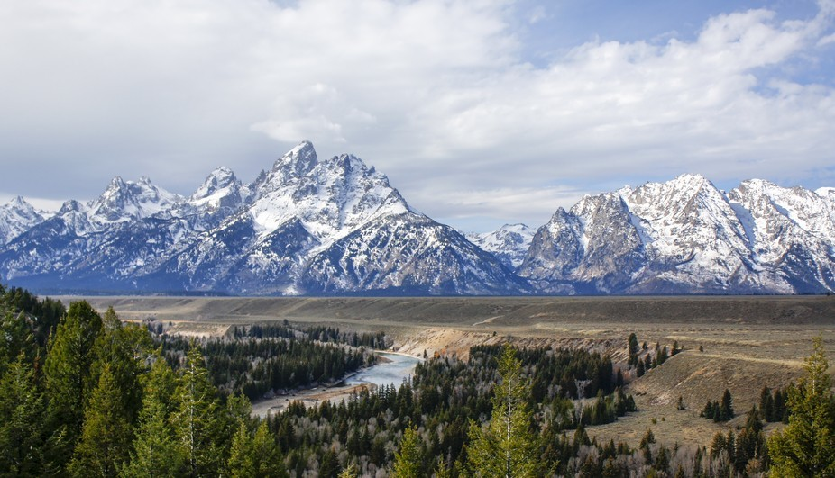 This fall I visited Yellowstone and got to see the beautiful Tetons. I took this photo while we w...