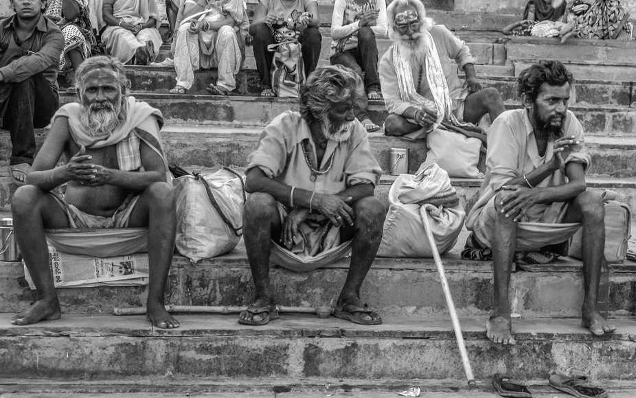 Walking along the Ghats of Varanasi you come across many a difference characters.
