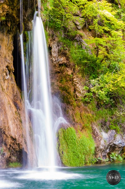 Silky waterfall streams