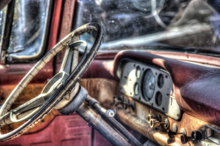 Taken during a truck graveyard photo shoot