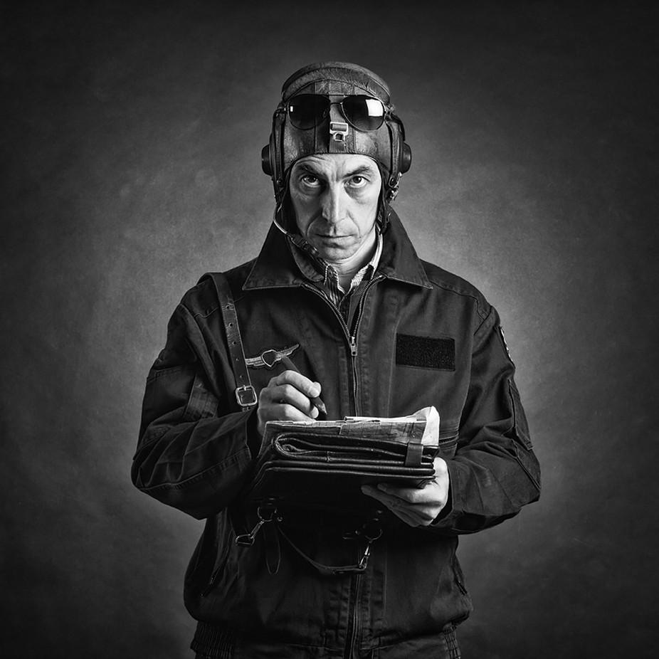Pilot. A self-portrait. by Refat - Male Portraits Photo Contest