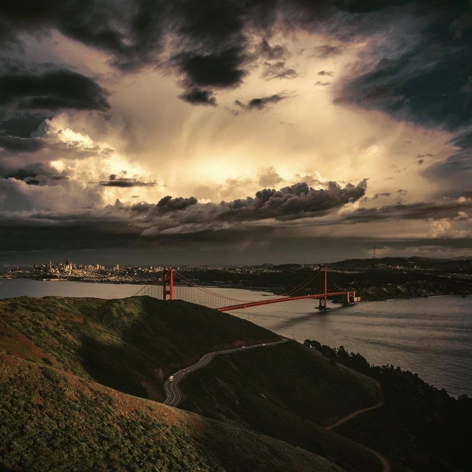Overlooking the Golden Gate Bridge at Dusk by Kelsocrates - Iconic Places and Things Photo Contest