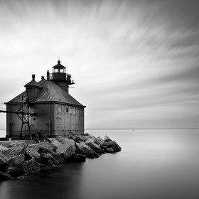 I visited the Sturgeon Bay Lighthouse on the morning of my last day at the Door County. I liked the movement of the clouds and the light definite...