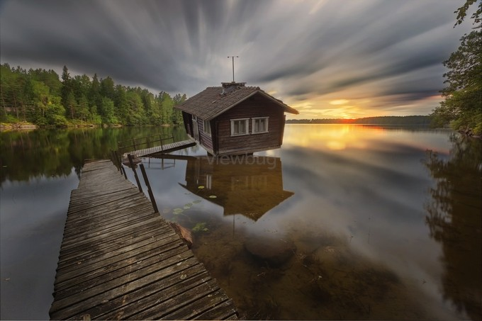 Drunken sauna II by villeheino - Isolated Cabins Photo Contest