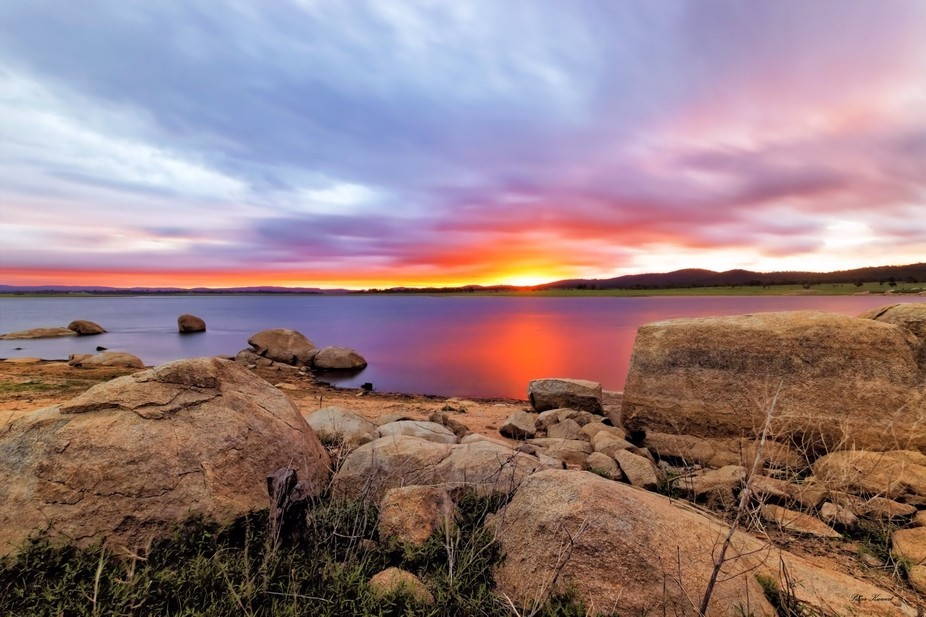 A Stunning Sunset on Leslie Dam QLD, using a 6 stop ND Filter i think i have capture the moment n...