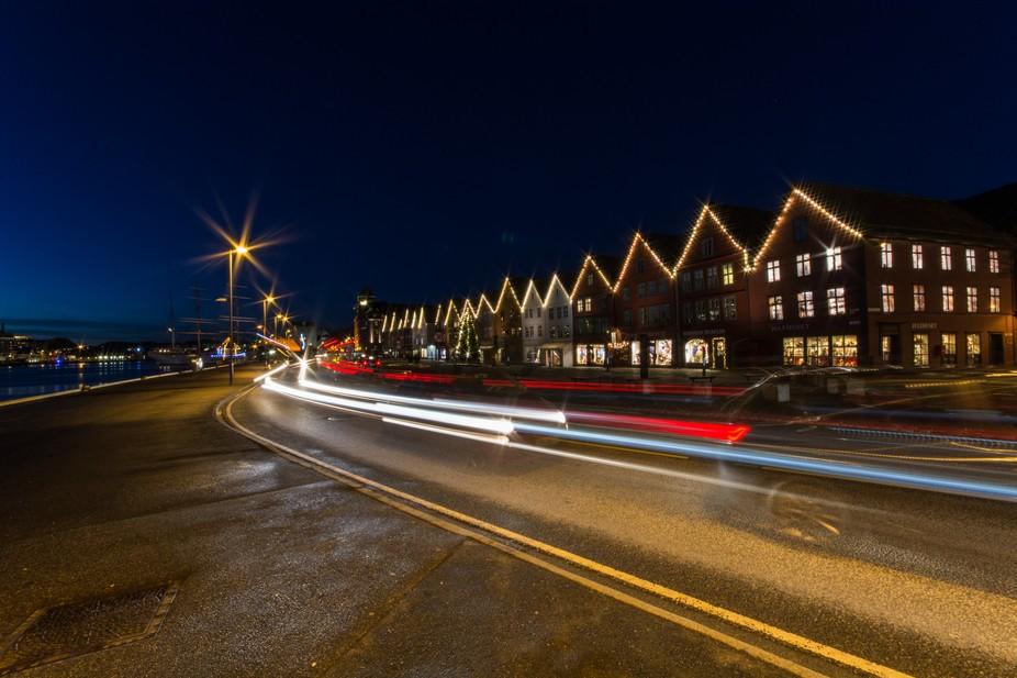 Long exposure in Bergen City