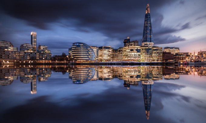 London Cityscape at Sunset by Merakiphotographer - City In The Night Photo Contest