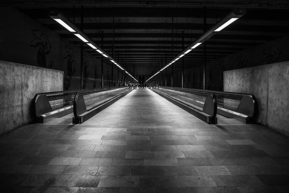 Awaiting in Chiado station, Lisbon