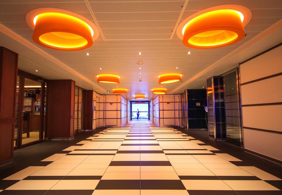 cruise ship corridor shot