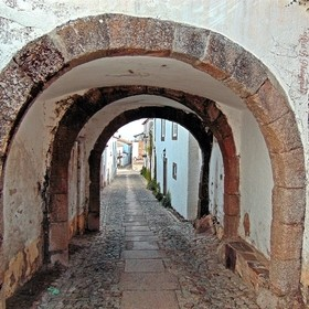 A small medieval tunnel in the ancient fortification Marvão