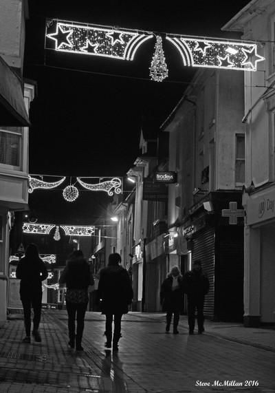 Christmas lights in Brixham