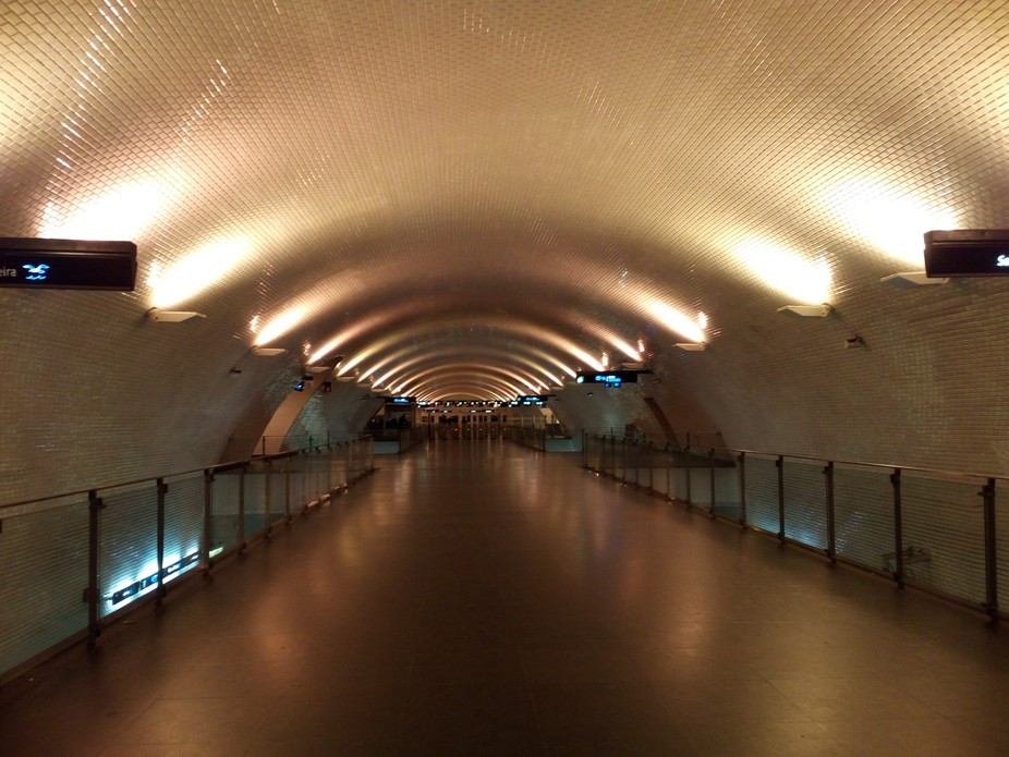 Metro station in Lisbon. Usually it's full of people, but I had the luck to capture this...