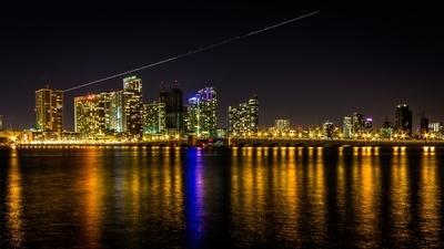Venetian Causeway in Miami Florida