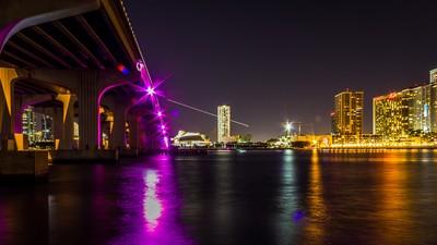MacArthur Causeway Miami Florida Skyline