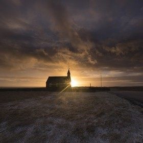 The black church at Búðir, Snæfellsnes peninsula - Iceland.