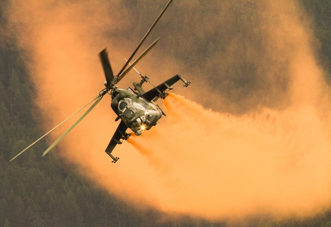 Mil Mi 24 Hind Helicopter by KonHel - Everything Smoke Photo Contest