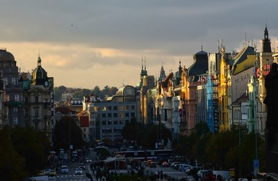 Sunset hour in Prague