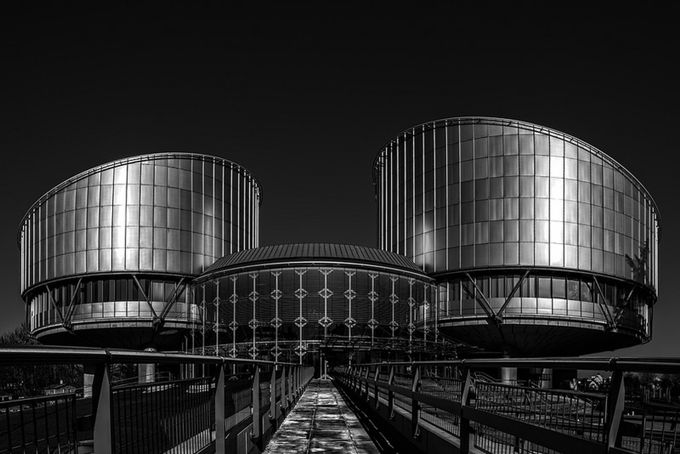 ECHR by Denis09 - Black And White Architecture Photo Contest