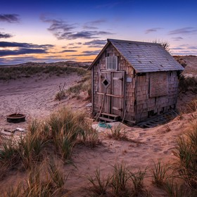 One of 19 historic dune shacks in the National Seashore. They are open for artists in the summer, but close all winter