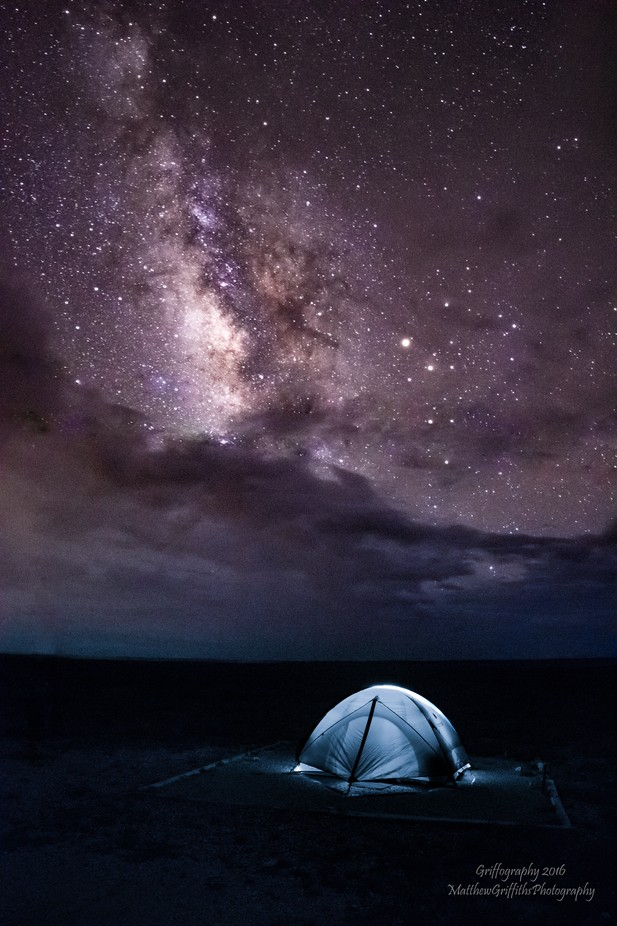 Camping under the Milky Way by matthewgriffiths - Outdoor Camping Photo Contest