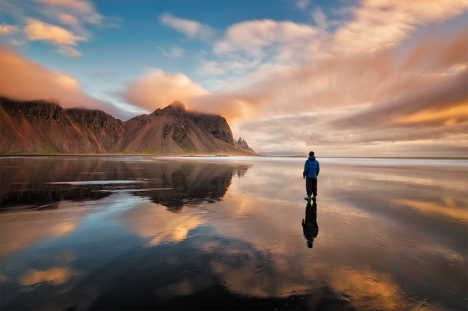 Self Portrait with Vestruhorn by Saptashaw - Lakes And Reflections Photo Contest