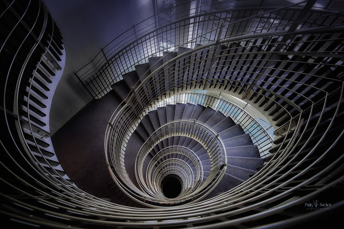 Downward Spiral by phyllisburchett - Stairways Photo Contest