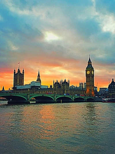 Sunset on the River Thames