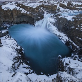 Hiking 6km on thick ice and snow wearing crampons was well rewarded to visit this unbelievably beautiful waterfall in the Icelandic highlands. On...