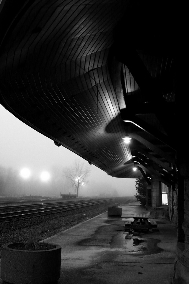 Foggy early evening waiting for a train! by danmoran - Night Wonders Photo Contest