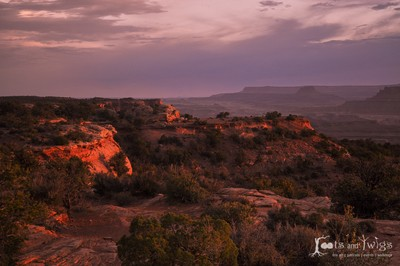 Sunset at Canyonlands National Park, Utah