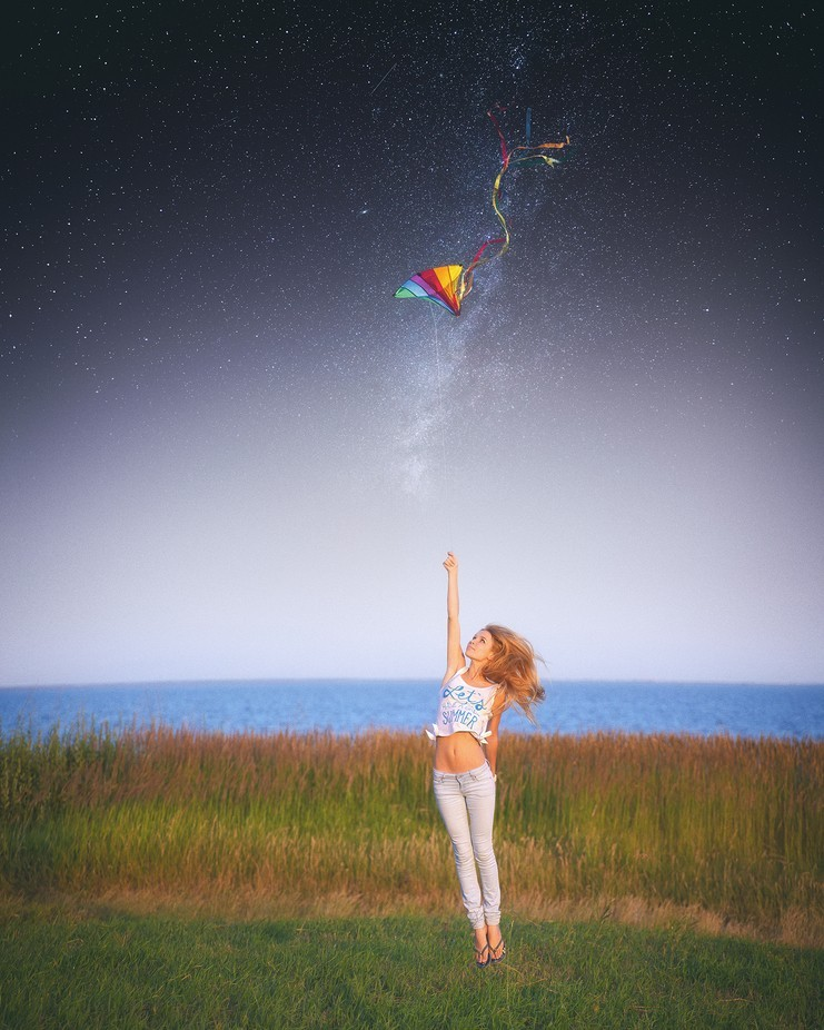 a kite by impmagination - Fantasy In Color Photo Contest