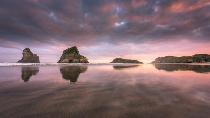 Wharariki reflection by jamierichey - Islands Photo Contest