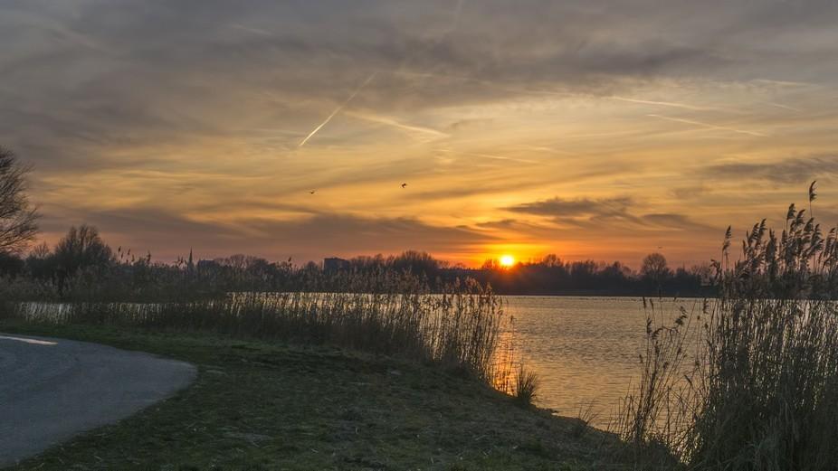 a Little lake in my neighbourhood during sunset