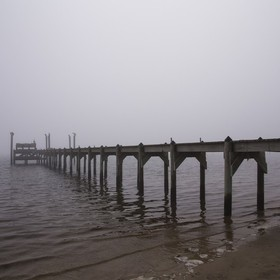 Taken at Carrabelle,Fl, there was no sunrise on this morning but the fog presented a mood of its own.