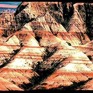 Years of divine color in the formations of the Badlands, SD.