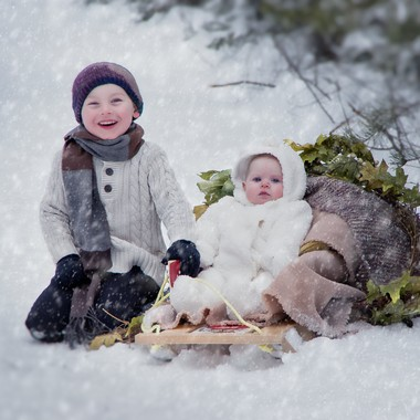 Canadian winter weather can be full of excitement and fun.  Look at the pleasure on their faces.
