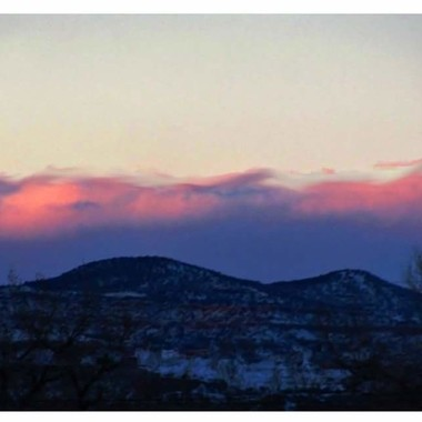 This was taken from my deck in Aztec, New Mexico.