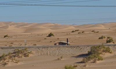 House in dry sandhills