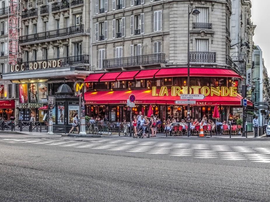 """Cafe La Rotonde, Montparnasse, Paris -The """"France"""" Collection"""