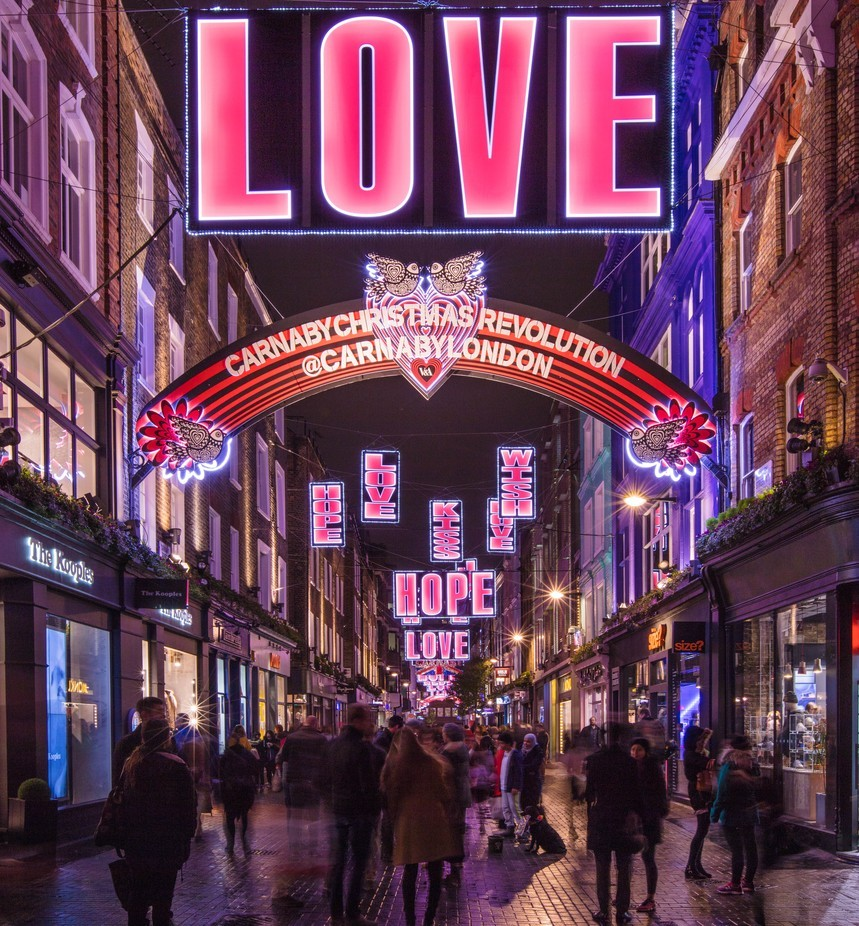 Carnaby Street at Christmas by brittabia - People In The City Photo Contest