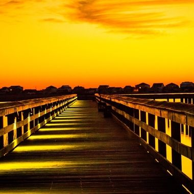 Murrells Inlet, S.C. early morning walk on the marsh