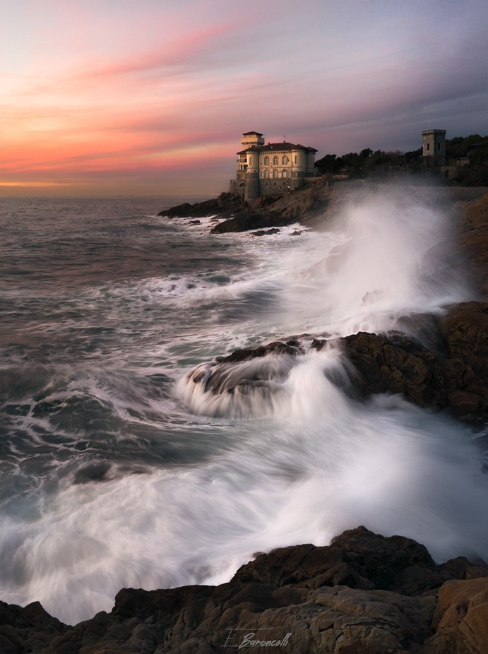 Sunset at Boccale Castle by emanuelebaroncelli - Enchanted Castles Photo Contest