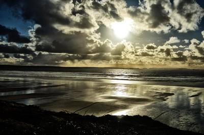 Winter sun at Newgale Beach